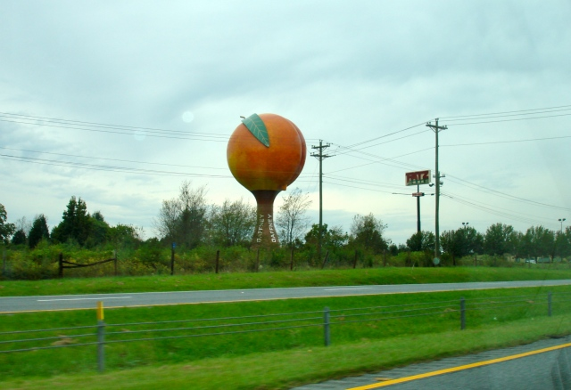 I-85N view of Gaffney, SC water tower